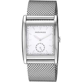 Movado Men's 'Heritage' Swiss Quartz Stainless Steel Watch