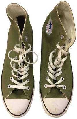 Converse Green Cloth Boots