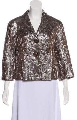 Michael Kors Metallic Notch-Lapel Blazer