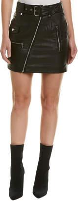 Bagatelle Leather Moto Skirt