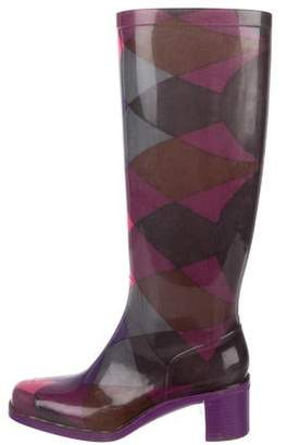 Emilio Pucci Rubber Knee-High Boots