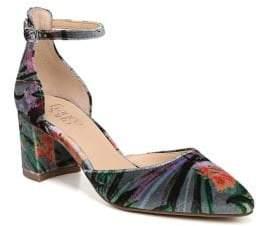 Franco Sarto Keena Floral Velvet Block-Heel Pumps
