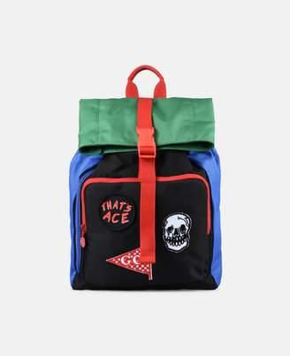Stella McCartney blitz badges backpack