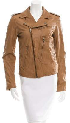What Goes Around Comes Around Embellished Leather Jacket
