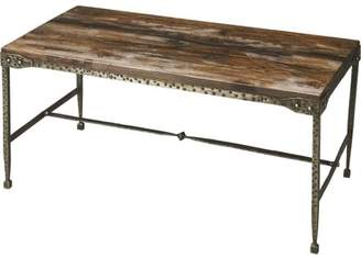 Butler Specialty Company Butler Mountain Lodge Gratton Iron and Wood Cocktail Table