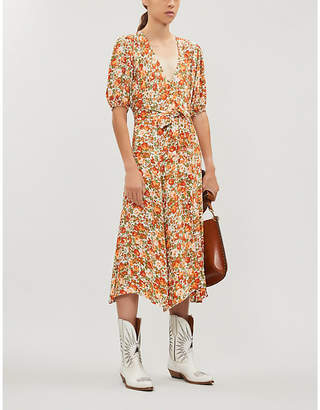 Faithfull The Brand Delia floral-print crepe midi dress
