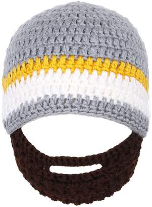Simplicity Simplicity's Winter Warm Knit Bearded Face Mask Beanie, Gery