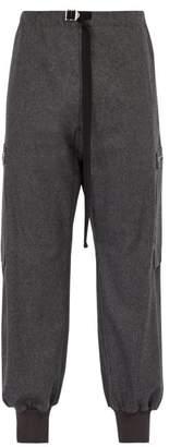 Stella McCartney Buckled Wool Felt Track Pants - Mens - Charcoal