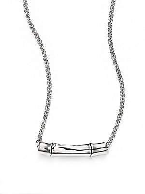 John Hardy Women's Bamboo Sterling Silver Slider Pendant Necklace