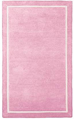 Pottery Barn Teen Capel Border Rug, 5'x8', Pale Pink
