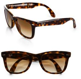 Ray-Ban Folding Square Wayfarer Sunglasses $165 thestylecure.com