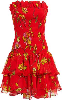 Caroline Constas Lola Smocked Mini Dress