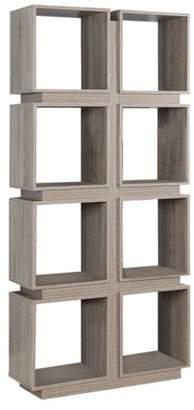 Benzara Geometrically Designed Bookcase With 8 Shelves
