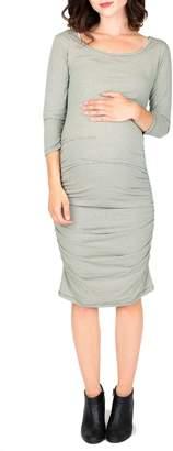 Nom Maternity Nom 'Ellie' Ruched Maternity Dress