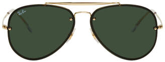 Ray-Ban Gold and Green Blaze Highstreet Sunglasses