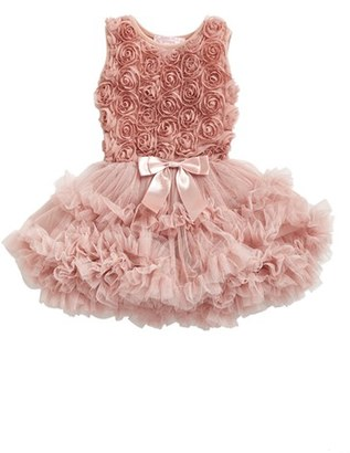 Infant Girl's Popatu Ribbon Rosette Pettidress $38 thestylecure.com