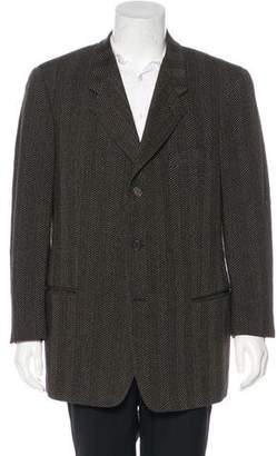 Giorgio Armani Wool Patterned Blazer
