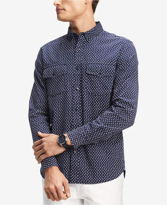 Tommy Hilfiger Men's Star-Print Shirt, Created for Macy's