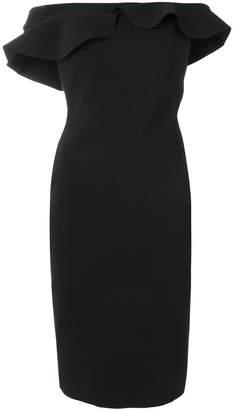 Chiara Boni Le Petite Robe Di ruffle trim off-the-shoulder dress