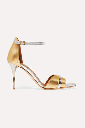 Malone Souliers Honey 85 Two-tone Metallic Leather Sandals - Gold