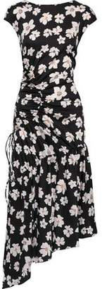 Sachin + Babi Huma Floral-print Washed-crepe Midi Dress