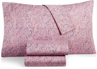 BCBGeneration Cotton Percale 200 Thread Count Small Dots Twin Xl Sheet Set Bedding