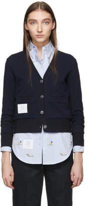 Thom Browne Navy Classic Stripe Cardigan
