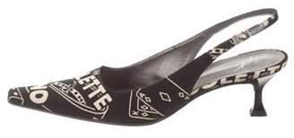 Giuseppe Zanotti Patterned Slingback Pumps Black Patterned Slingback Pumps