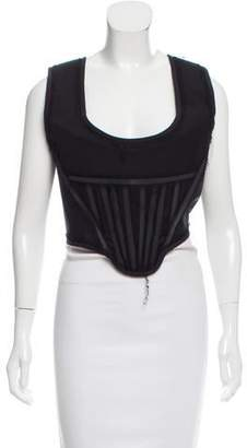 Givenchy Structured Chiffon-Trimmed Bustier w/ Tags