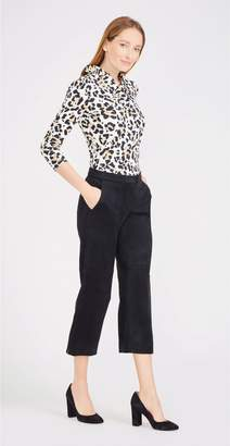 J.Mclaughlin Marsha Cropped Wide Leg Pants in Faux Suede