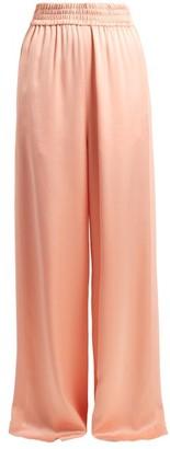 Golden Goose Sophie Wide Leg Satin Track Pants - Womens - Pink