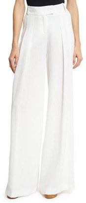 Michael Kors Linen Palazzo Trousers, White $895 thestylecure.com