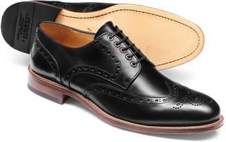 Charles Tyrwhitt Black Eyelet Derby Brogue Shoe Size 7