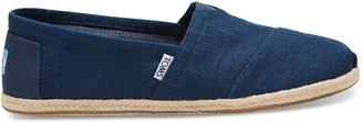 Navy Linen Rope Sole Men's Classics
