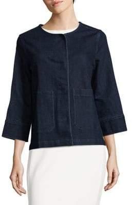 Joan Vass Roundneck Denim Jacket