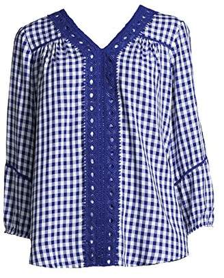 John Paul Richard JohnPaulRichard Women's Gingham Blouse
