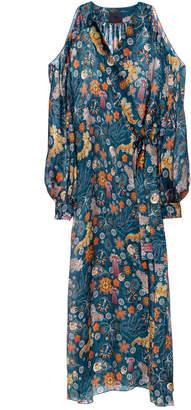 Lake Studio Cold Shoulder Wrap Dress