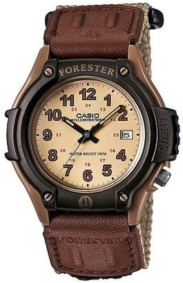 Casio Men's Forester Analog Watch, Tan Nylon Fast-Wrap Strap