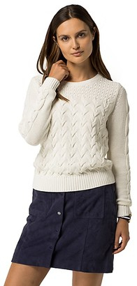 Final Sale-Textured Cable Sweater