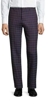 Etro Slim Check Wool Pants