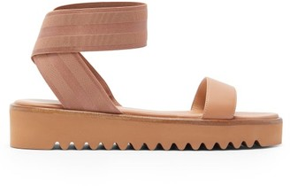 Gianvito Rossi Ankle Strap Flatform Sandals - Womens - Nude