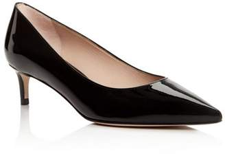 Stuart Weitzman Women's Leigh 45 Patent Leather Kitten Heel Pumps