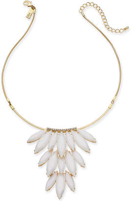 """INC International Concepts I.n.c. Gold-Tone Stone Cluster Statement Necklace, 16"""" +3 extender"""
