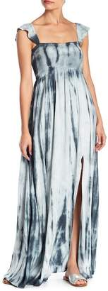AAKAA Smocked Tie Dye Maxi Dress