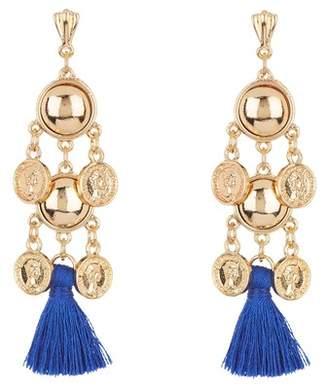 Ettika Coin & Tassel Earrings