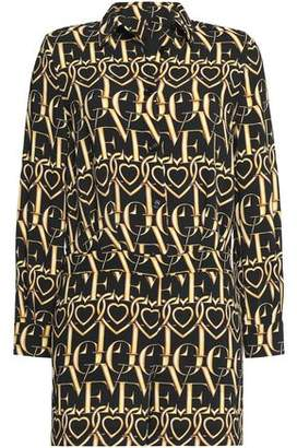 Love Moschino Printed Crepe Playsuit
