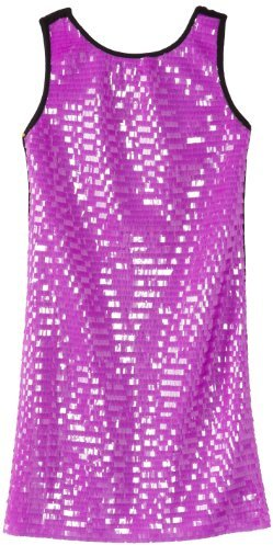 Flowers by Zoe Big Girls' Purple Tab Dress
