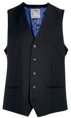 Topman Mens Black Suit Vest
