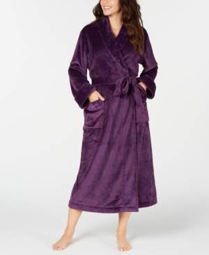Charter Club Women's Plush Long Robe, Created for Macy's