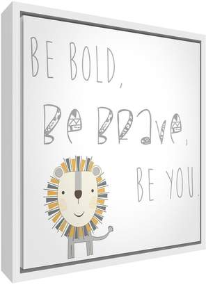 Camilla And Marc Feel Good Art Framed Box Canvas with Solid White Wooden Frame in Cute Illustrative Design (29 x 29 x 3 cm Small